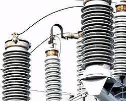 Isolador elétrico tipo roldana