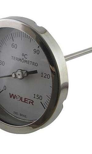 Termômetro analógico inox